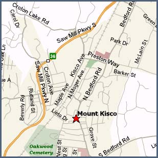 Map of Mount Kisco